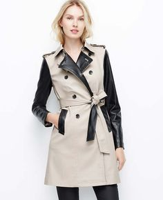 More cost-effective than the Coach trench I fell in love with last fall. I love this leather trimmed trench from Ann Taylor!