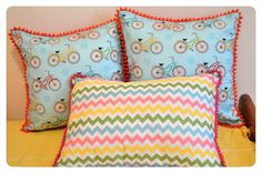 Almohadones Bicicletas y Rayas Chevron