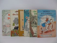 I Can Read lot of 6 books -Morris is a Cowboy, Hattie, On Your Mark, Binky Brothers, Animal for Alan, Oink and Pearl by CellarDeals on Etsy