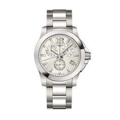 Reloj Conquest Caballero Longines L3.660.4.76.6 en #joyería Larrabe  #Reloj #moda #hombre #complementos