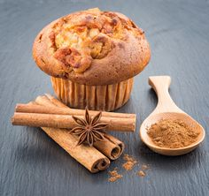 Check out Apple muffins with cinnamon by Lorena on Creative Market