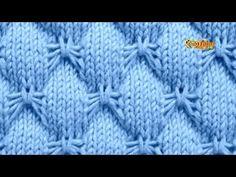 Cómo Tejer PUNTADA PARA COLCHA, COJIN, COBIJA... 2 agujas (494) - YouTube Baby Stitch, Stitch 2, Stitch Patterns, Knitting Patterns, Butterfly Stitches, Cutwork Embroidery, Knitting Stitches, Crochet Projects, Free Pattern