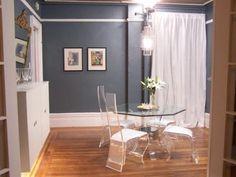 Mini apartamento - muebles transparentes que no ocupan espacio visual