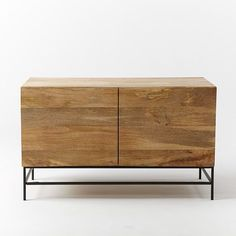 Rustic Storage Media Console – Small | West Elm