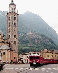 Tirano, Italy and the Bernina Express