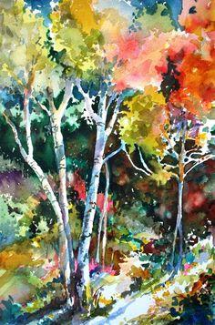 Sunlight  © Susenne Telage  www.yessy.com/telage  15x22 watercolor