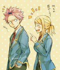 Dragneel.. you look so funny! | Lucy Heartfilia & Natsu Dragneel