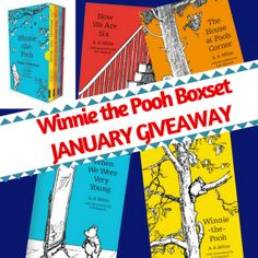 The books in my January Winnie the Pooh Giveaway are the super special Classic Collection box set. books illustrated in full colour inside a slip case. Good Books, Books To Read, My Books, Classic Books, Classic Collection, Winnie The Pooh, Competition, Free Stuff, Giveaways
