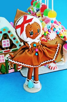 """""""Cookie"""" handmade pose doll by Boopsie Daisy"""