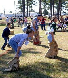 Potato Sack Race In Any Event C Camp Spooky Pinterest