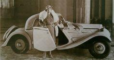 Mery Pickfordová a její zakázková Zetka Z4 kabriolet