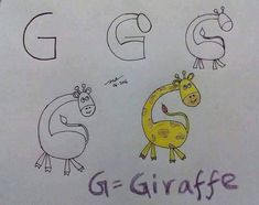 Learning Alphabets And Their Sounds In A Fun Way: Drawing With Alphabets.