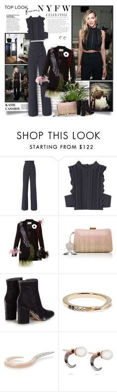 """""""NYFW Celeb Style: Katie Cassidy"""" by thewondersoffashion ❤ liked on Polyvore featuring Marissa Webb, Christopher Kane, Serpui, Gianvito Rossi, Elizabeth and James, Ryan Storer and Katie Rowland"""