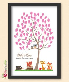Personalized Woodland Baby Shower/BIrthday by CherryImprintDesign