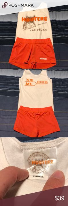 7307bc53b6d10 Rare Hooters Girl March Madness Uniform Tank Short