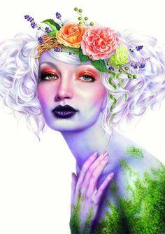 Spring Girl by Morgan Davidson from INPRNT