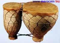 Les tebilats - Instrument de musique marocaine