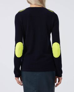 Cashmere Ines Breton Neon Navy/Lime - wyselondon.co.uk - 1