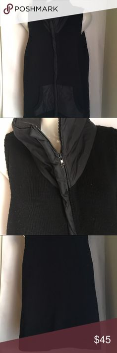 Eileen Fischer sweater vest-wool, large Gorgeous, authentic Eileen Fischer vest. 100 percent merino wool. 2 pockets. Very good pre-loved condition: minimal fuzz, no rips/holes/stains. Non smoking, non pet home. Size large. Black. Eileen Fisher Jackets & Coats Vests