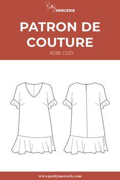 Retrouvez-le patron de couture et le tissu lin de la #robecozy sur notre mercerie en ligne #prettymercerie ! #patrondecouture #sewingpattern #diy Cool Attitude, Pretty Mercerie, Casual, Couture, Sweaters, Diy, Fashion, High Waist Pants, New Dress