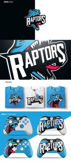 Mascot Logo Designs for Sports & eSports Teams Raptor Gaming by Rory Seaton MalgasRaptor Gaming by Rory Seaton Malgas Raptors, Gaming Logo, Xbox, Dino Park, Game Design, Logo Design, Graphic Design, Esports Logo, Branding