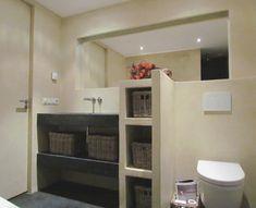Afbeeldingsresultaat voor badkamer leemstuc Shower, Interior Design, Furniture, Spa, Home Decor, Bath, Mirror, Google Search, Rain Shower Heads