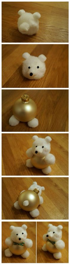 holiday bear baubles