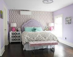 Lavender and grey teen bedroom | For the Home | Pinterest | Lavender ...