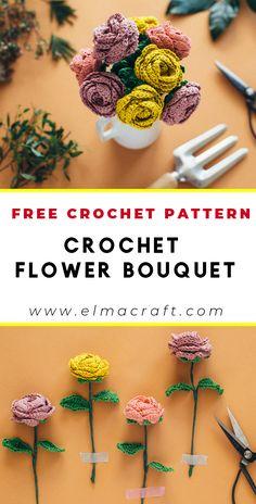 25 Beginner Flower Crochet Projects – Which One Is Your Favorite? Crochet Flower Tutorial, Crochet Flower Patterns, Crochet Patterns Amigurumi, Crochet Flowers, Crochet Stitches, Pattern Flower, Rose Patterns, Crochet Gifts, Cute Crochet