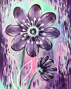 DIY Full Drill Diamond Painting Cross Stitch Embroidery Home Mural Decor Gift Easy Canvas Painting, Diy Canvas Art, Diy Painting, Painting & Drawing, Purple Painting, Painting Flowers, Cross Paintings, Canvas Paintings, Motif Floral