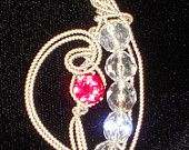 Ruby Crystal in Silver Pendant