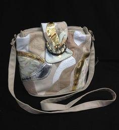 Cream Retro Style Shoulder Bag | eBay
