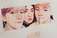 (1) Twitter Baekhyun Fanart, Exo Kokobop, Exo Xiumin, Kpop Exo, Kpop Fanart, Kpop Drawings, Cute Drawings, Exo Stickers, Chibi