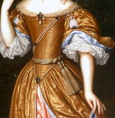 """""""Portrait of an Unknown Lady"""" (1671) (detail) by Pieter Nason (c. 1612-1688)."""