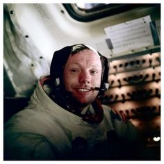 """Neil Armstrong // """"It suddenly struck me that that tiny pea, pretty and blue, was the Earth. I put up my thumb and shut one eye, and my thumb blotted out the planet Earth. I didn't feel like a giant. I felt very, very small."""" www.nitch.com"""