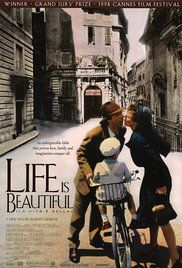 Life Is Beautiful-When an open-minded Jewish librarian and his son become victims of the Holocaust, he uses a perfect mixture of will, humor and imagination to protect his son from the dangers around their camp.