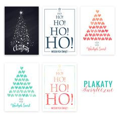 Świąteczne plakaty - 5 grafik do pobrania.