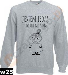 Bluza Mała Mi: Jestem jędzą i dobrze mi z tym w uczarnego.pl na DaWanda.com Malaga, Graphic Sweatshirt, Sweatshirts, Sweaters, Etsy, Fashion, Moda, Fashion Styles, Trainers