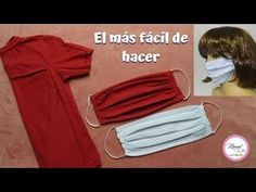 *TAPA BOCA con retazos o ropa que ya no uses| El más FÁCIL de hacer - YouTube Sewing Lessons, Sewing Hacks, Sewing Crafts, Sewing Projects, Diy Mask, Diy Face Mask, Straight Stitch, Dress Sewing Patterns, Diy Clothes