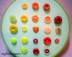 Embroidery Hoop Buttons Display