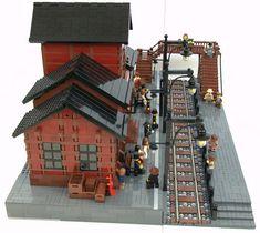 Train Station | More pictures on: www.brickshelf.com/cgi-bin… | Flickr