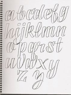 Caligrafía, abecedarios - Taringa! Más