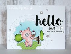 Kunis Bastelblog: Ham it up on your Birthday