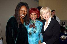 Celia Cruz, Whoopie Goldberg, and Cristina