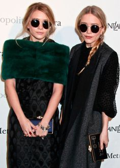 ceecb211f307 Ashley and Mary Kate Olsen in The Row for Linda Farrow sunglasses