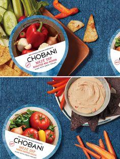 Chobani Meze Dips Appetizer Ideas - via BirdsParty.com