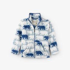 64e5a483c3a Pumpkin Pie Kids · Boys Clothing · Hatley Fuzzy Fleece Zip Up - Polar Bear