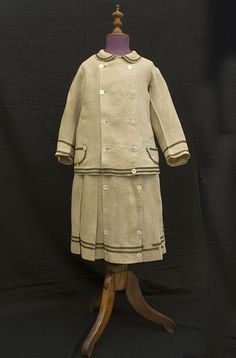 Boy's linen skirt suit, 1870s. A fascinating cultural remnant of a time in our history when little boys could still be dressed in skirts.