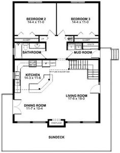 I like this plan only I would like to have 2 bathrooms. House Plan No.195004 House Plans by WestHomePlanners.com