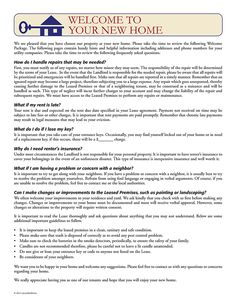 Tenant Welcome Letter | EZ Landlord Forms